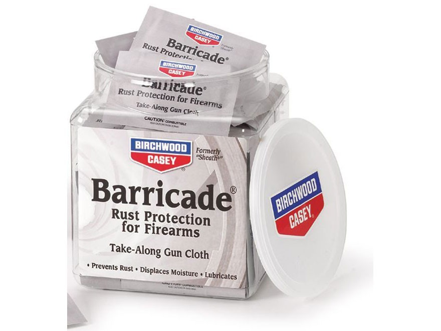Birchwood Casey Barricade Rust Protection Take-Alongs Gun Wipes Package of 100