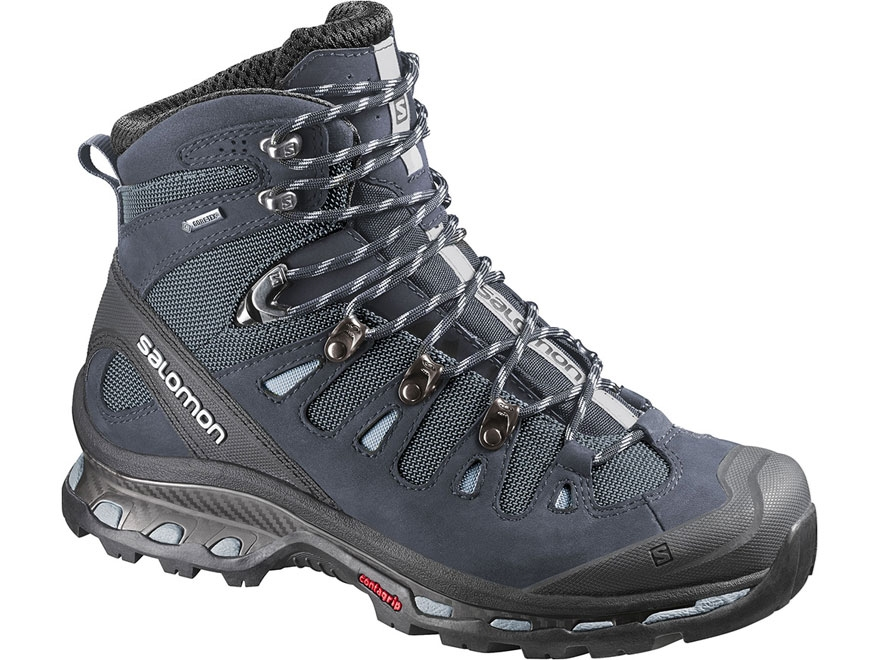 "Salomon Quest 4D 2 GTX 6"" Hiking Boots Synthetic and Leather Deep Blue/Stone Blue/Light..."
