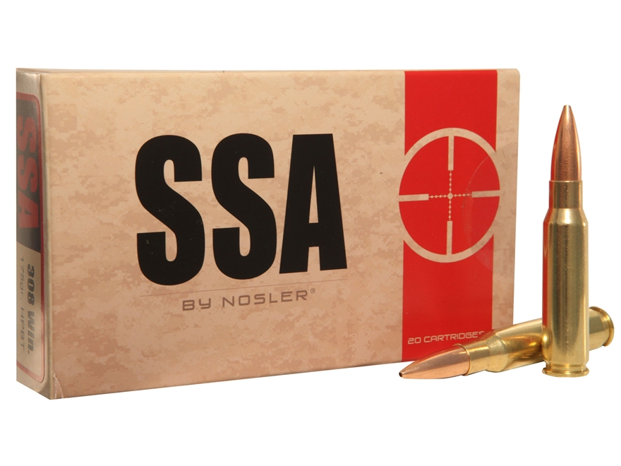 Silver State Armory Ammunition 308 Winchester 175 Grain Nosler Custom Competition Hollo...