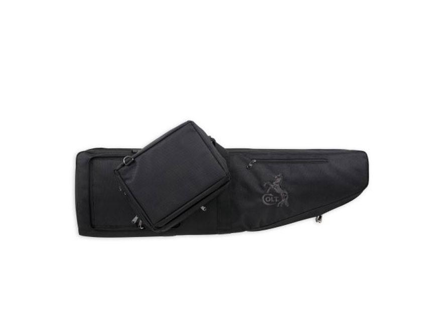 Colt Modern Sporting Rifle Elite Double Tactical Rifle Case W/Range Bag Pocket Nylon Black