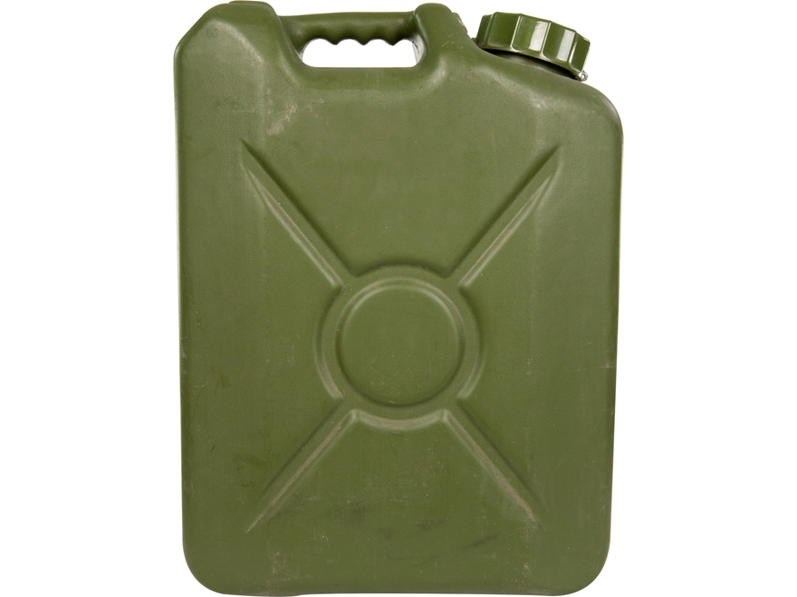 Military Surplus French Water Can 20-Liter Grade 2 Olive Drab