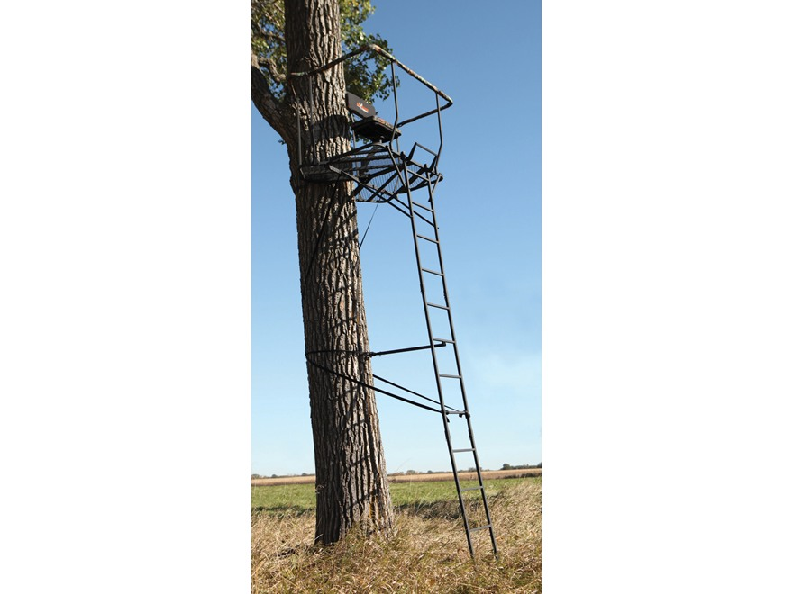 Big Game The Ultra-View DX Single Ladder Treestand Steel Black