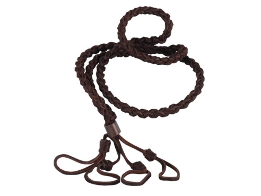 Allen Braided Leather 4 Call Lanyard