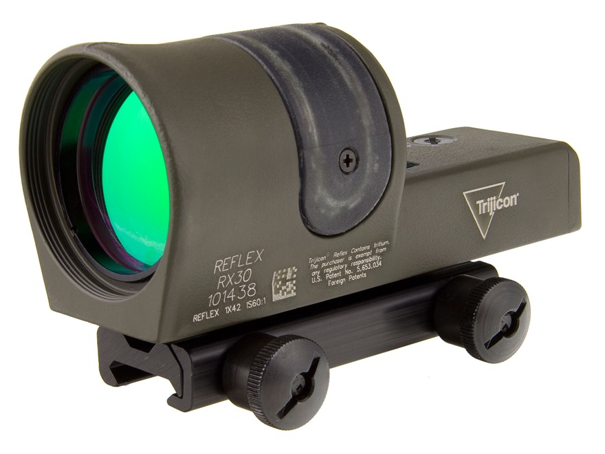 Trijicon RX30-C Reflex Sight 1x 42mm 6.5 MOA Dual-Illuminated Amber Dot with TA51 Mount...