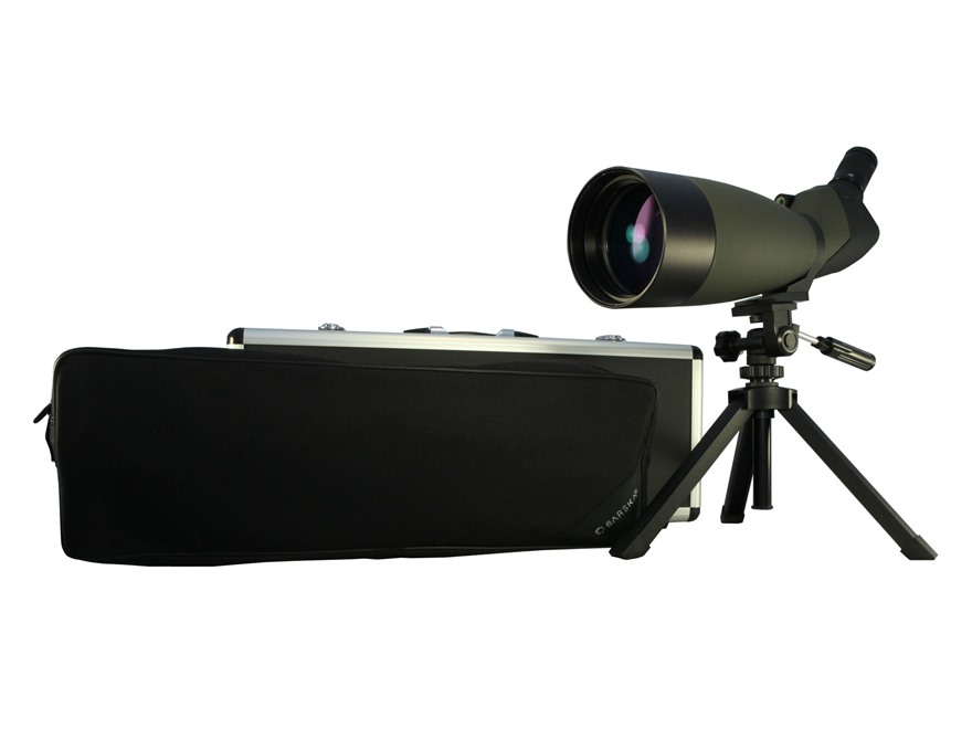 Barska Blackhawk Spotting Scope 25-75x 100mm Angled Body with Tripod, Hard and Soft Cas...
