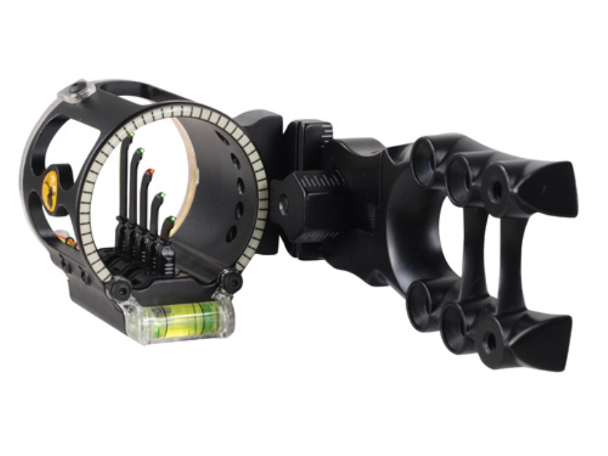 "Trophy Ridge Alpha V5 5-Pin Bow Sight .019"" Pin Diameter Right Hand Aluminum Black"