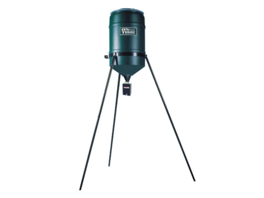 On Time Tomahawk Ultra Hunt 30 Gallon Tripod Game Feeder Combo
