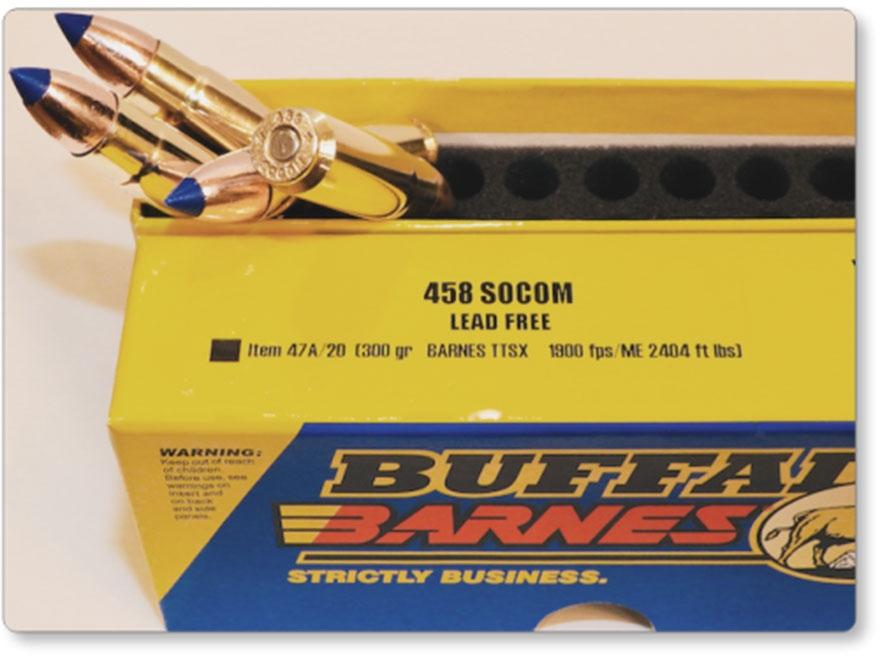 Buffalo Bore Ammunition 458 SOCOM 300 Grain Barnes TSX Triple Shock Box of 20