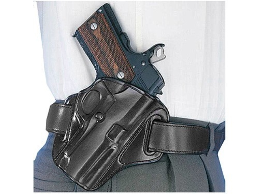 Galco Concealable Belt Holster Right Hand 1911 Government with Rail Leather Black
