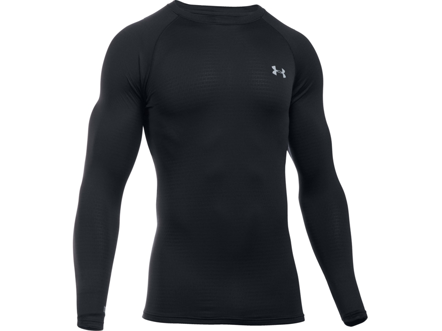 Under Armour Men's UA Base 1.0 Crew Base Layer Shirt Long Sleeve Polyester Black