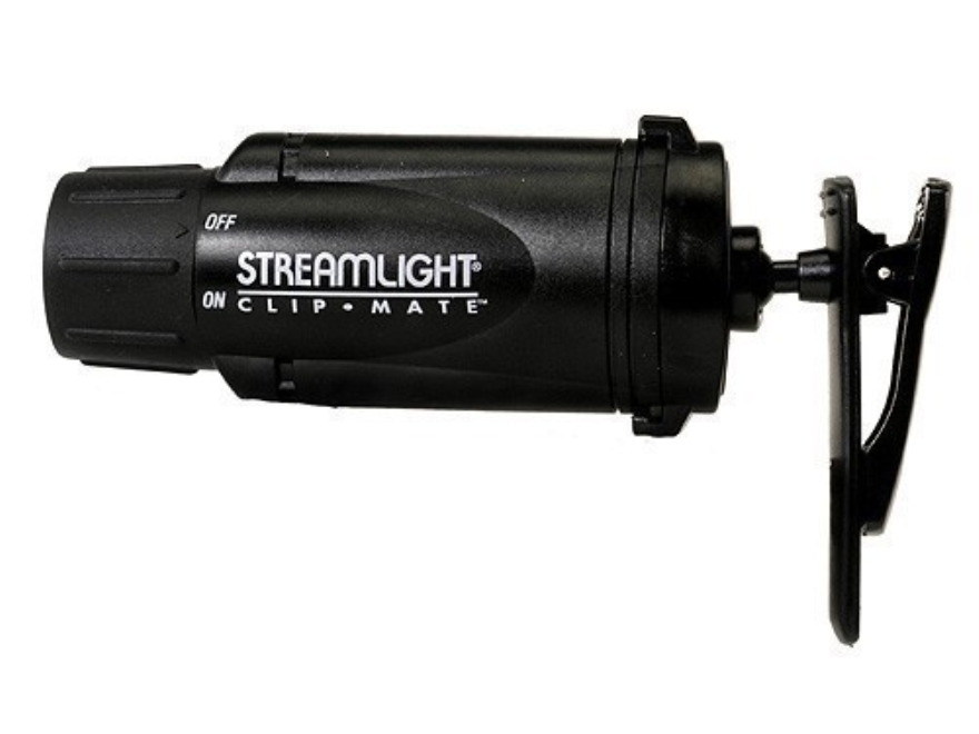 Streamlight ClipMate Flashlight White LED with 3 AAA Batteries Polymer Black