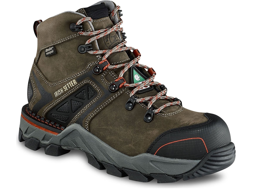 "Irish Setter Crosby 6"" Waterproof Puncture-Resistant Non-Metallic Safety Toe Work Boots..."