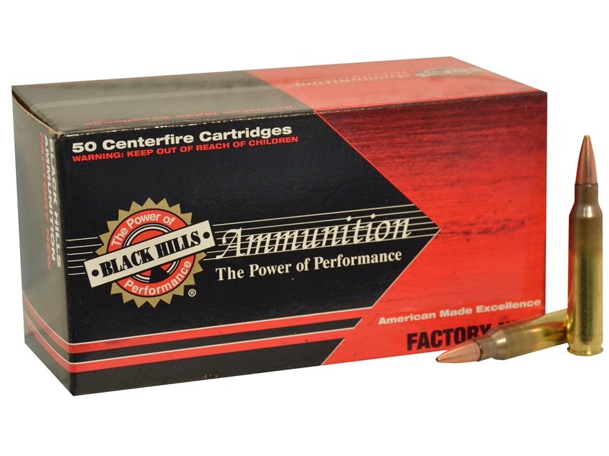 Black Hills Ammunition 5.56x45mm NATO 62 Grain Barnes TSX Box of 50