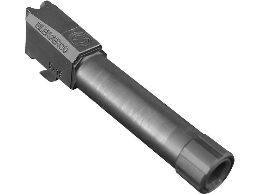 "SilencerCo Barrel HK VP9 9mm Luger 4.45"" Stainless Steel 1/2""- 28 Threaded Muzzle with ..."
