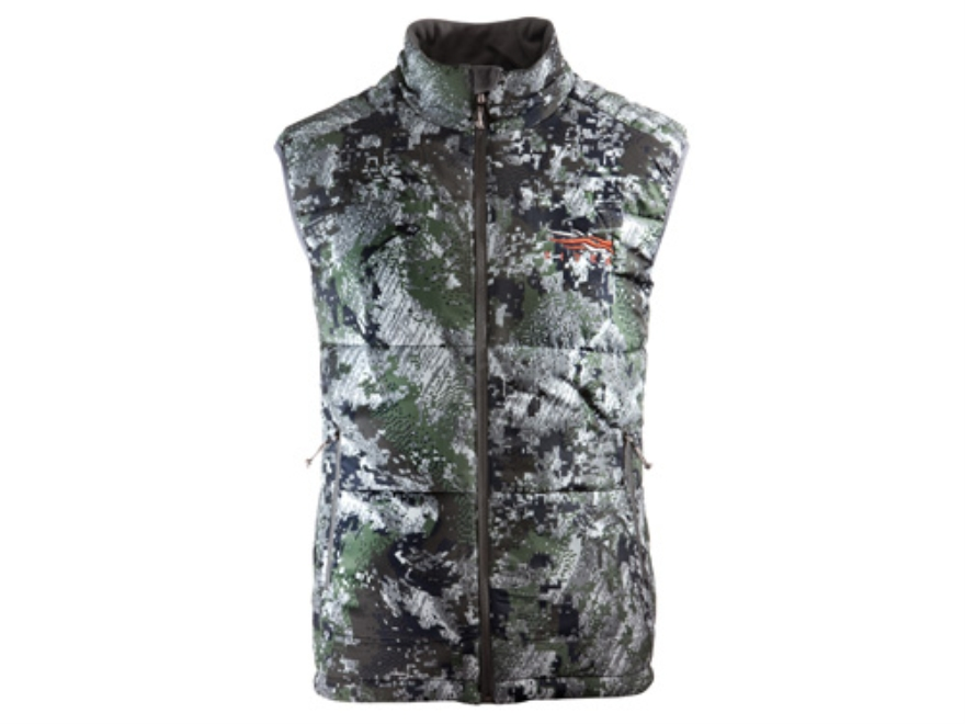 Sitka Gear Men's Kelvin Insulated Vest Polyester Gore Optifade Elevated Forest Camo Lar...