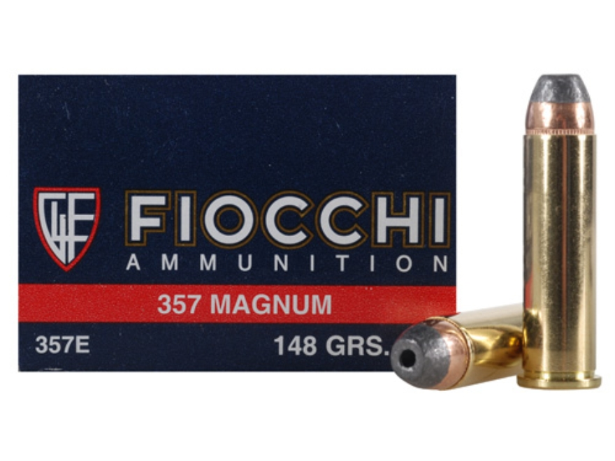 Fiocchi Shooting Dynamics Ammunition 357 Magnum 148 Grain Semi-Jacketed Hollow Point Bo...