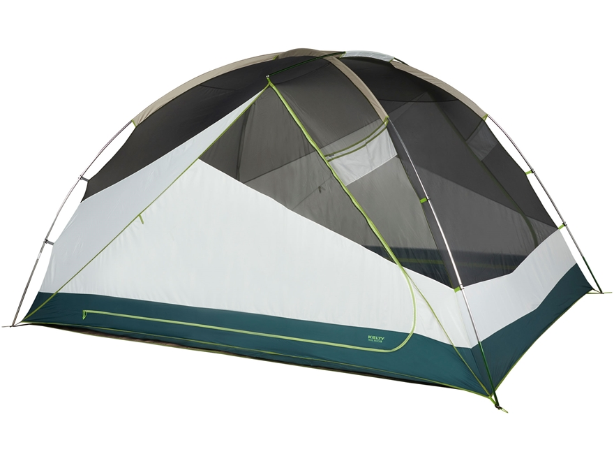 "Kelty Trail Ridge 8 Person Dome Tent with Footprint 150"" x 115"" x 77"" Polyester Grey"