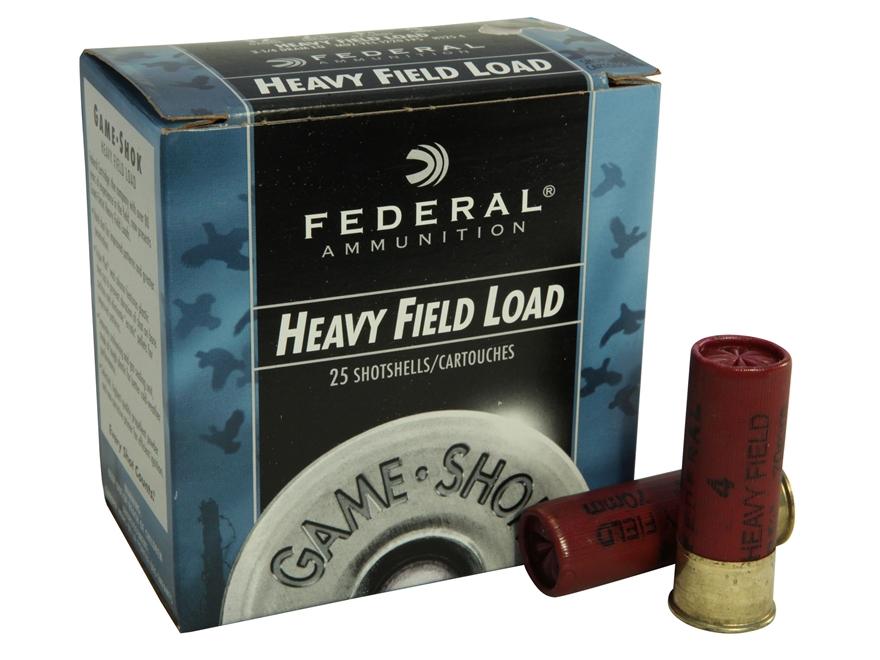 """Federal Game-Shok Heavy Field Load Ammunition 12 Gauge 2-3/4"""" 1-1/4 oz #4 Shot"""