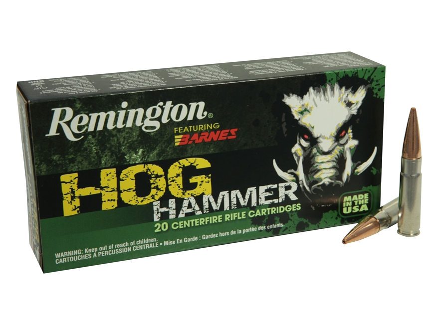 Remington Hog Hammer Ammunition 300 AAC Blackout 130 Grain Barnes Triple-Shock X Bullet...