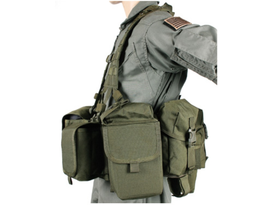 BLACKHAWK! LRAK Machine Gunner Load Carrying Vest Nylon Olive Drab