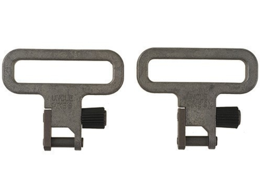 "Uncle Mike's Quick Detachable Mil-Spec Sling Swivels 1-1/4"" Silver"