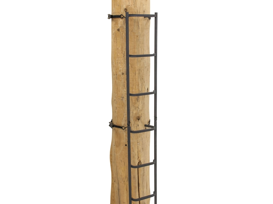 Rivers Edge Big Foot Tree Ladder Treestand Climbing Stick 23' with Lifeline Steel Gray