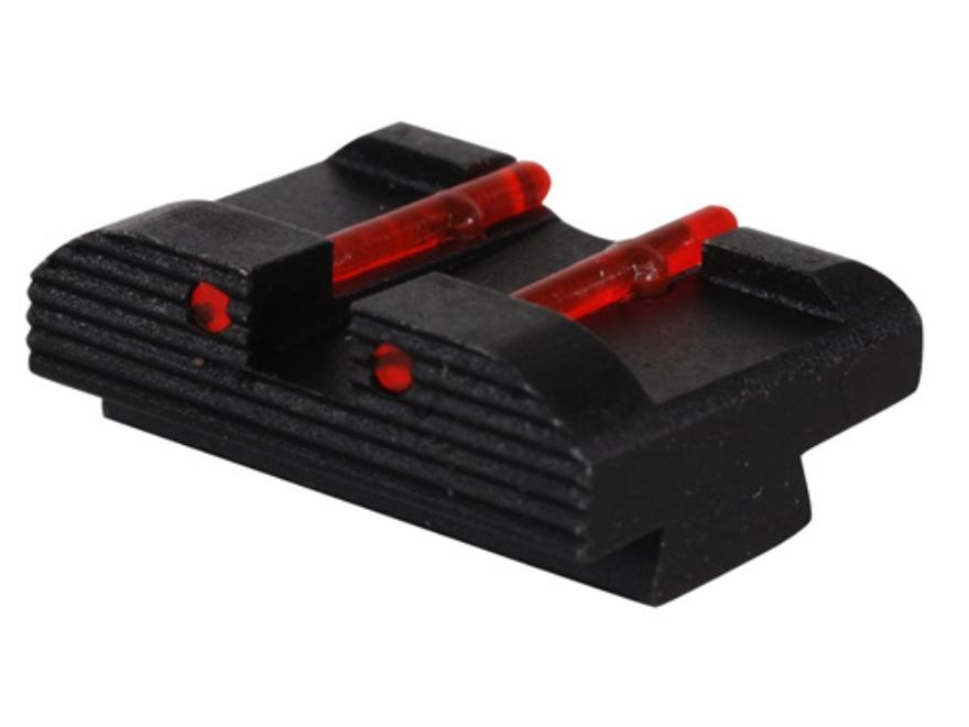 "HIVIZ Rear Sight Glock 10mm Auto, 45 ACP, 45 GAP Models .272"" Height Steel Fiber Optic Red"