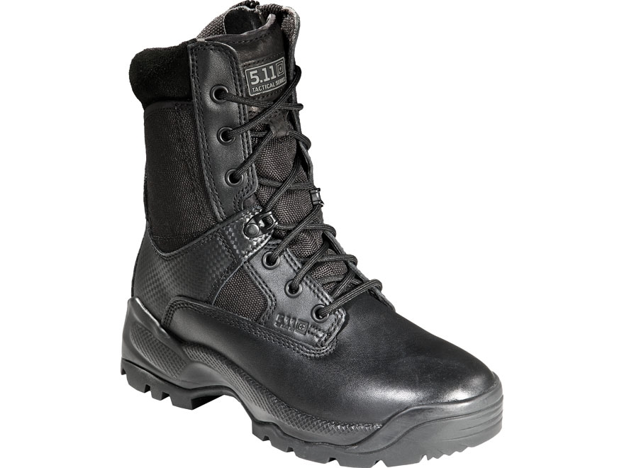 "5.11 ATAC 8"" Tactical Boots Leather and Nylon Side Zip Black Women's"