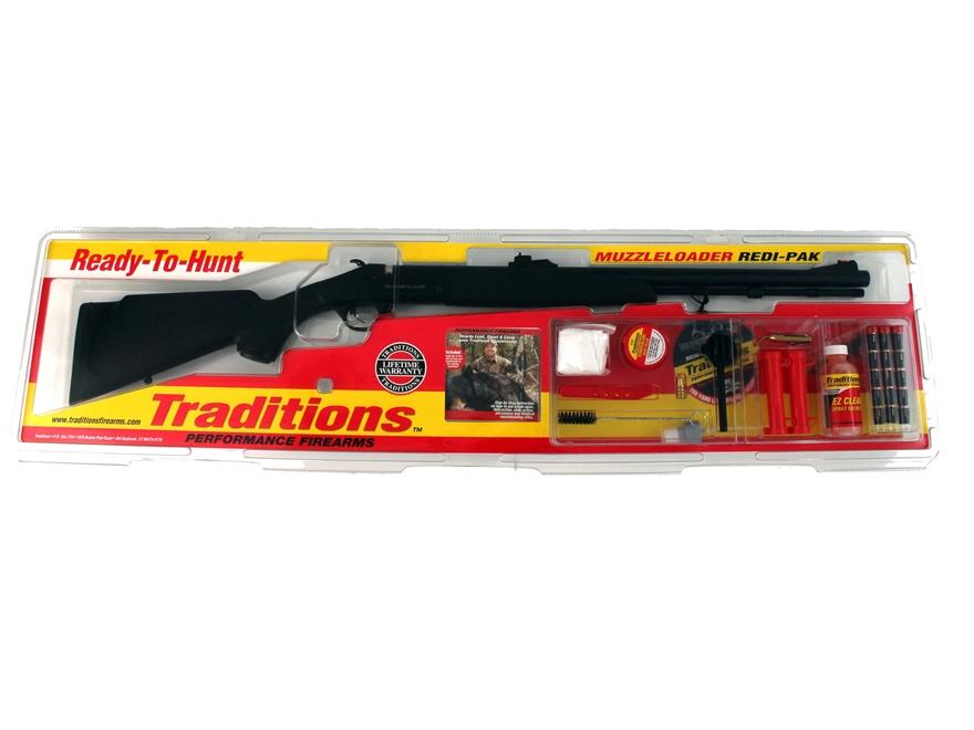 "Traditions Buckstalker Northwest Magnum Muzzleloading Rifle Redi-Pak 50 Caliber 24"" Bar..."