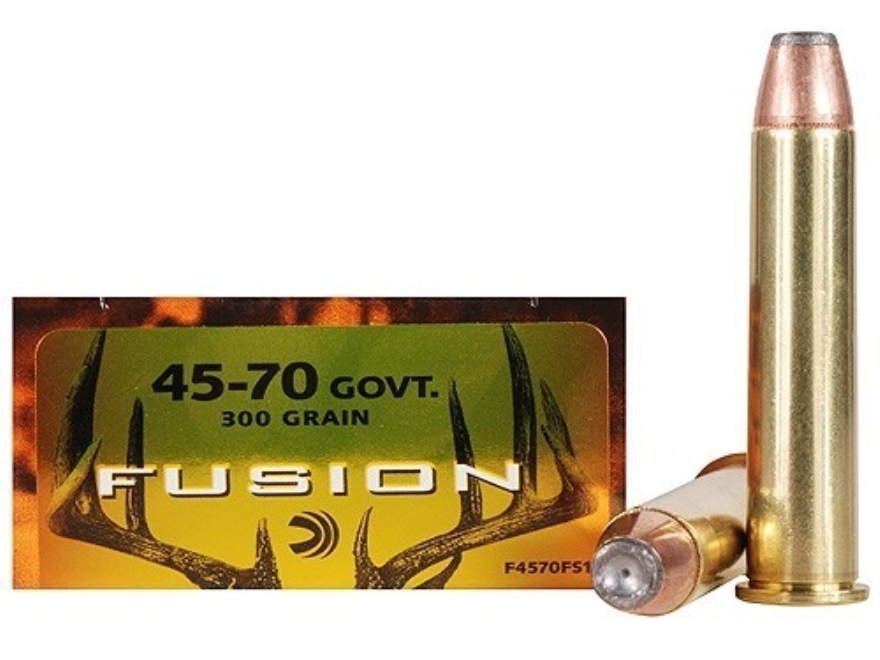 Federal Fusion Ammunition 45-70 Government 300 Grain Spitzer