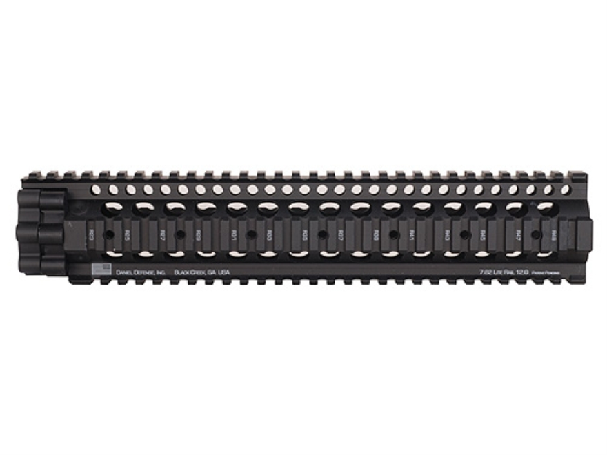 Daniel Defense 7.62 Lite Rail 12.0 Free Float Tube Handguard Quad Rail LR-308 Rifle Len...