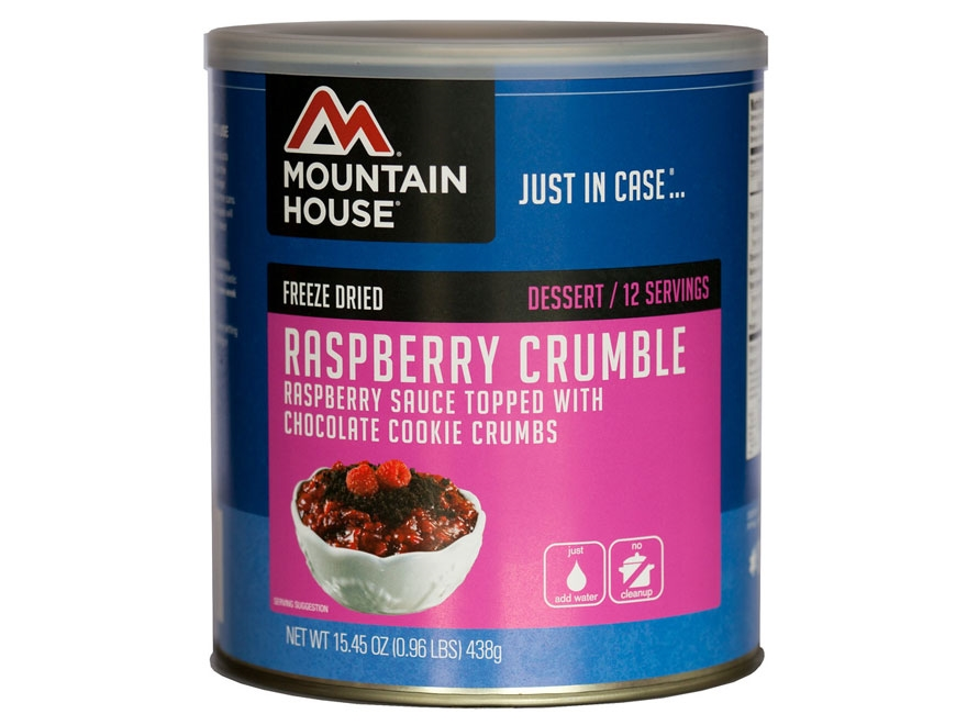 Mountain House 12 Servings Raspberry Crumble Freeze Dried Food #10 Can