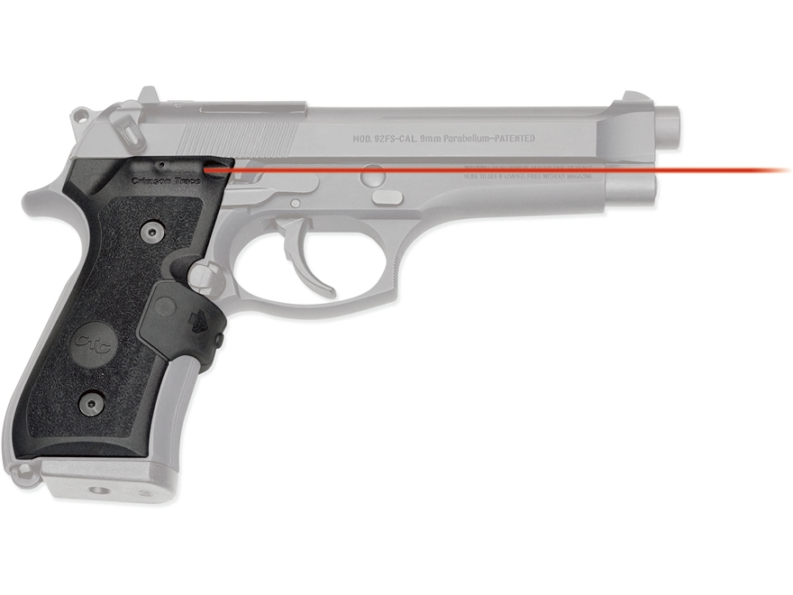 Crimson Trace Lasergrips Beretta 92, 96 Front Activation Polymer Black