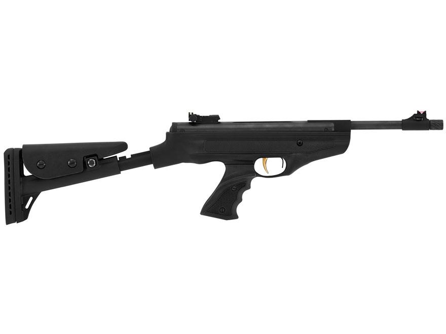 Hatsan Model 25 SuperTact Air Pistol Pellet Black Polymer Grips Black Frame