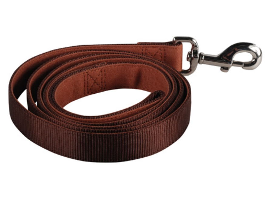 "Remington Dog Leash 1"" x 6' Canvas and Nylon Brown"