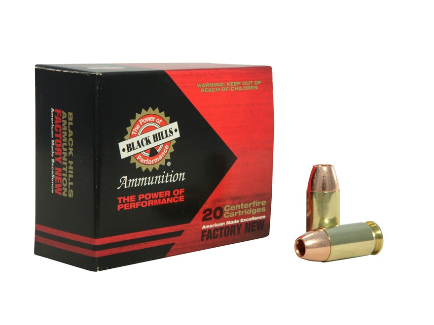 Black Hills Ammunition 45 ACP +P 185 Grain Barnes TAC-XP Hollow Point Lead-Free Box of 20