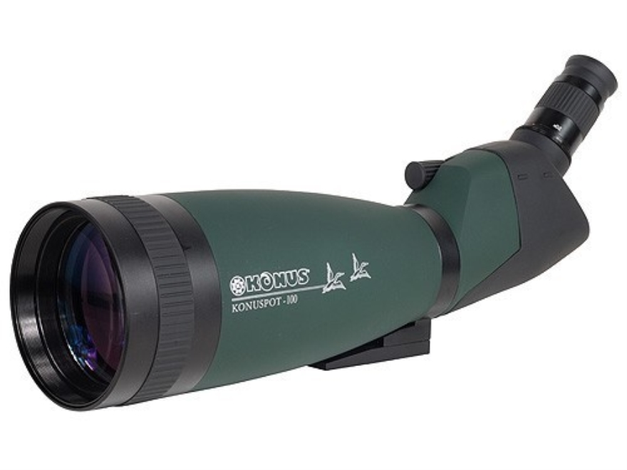 Konus Spotting Scope 20-60x 100mm with Photo Adapter and Soft Case Armored Green