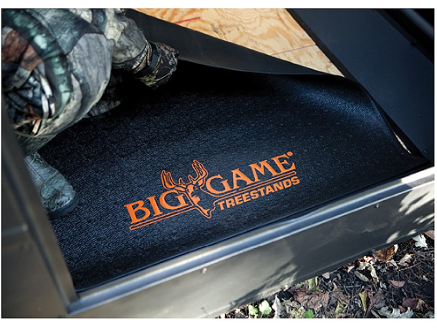 Big Game Rubber Floor Mat for Box Blinds Black Pack of 1