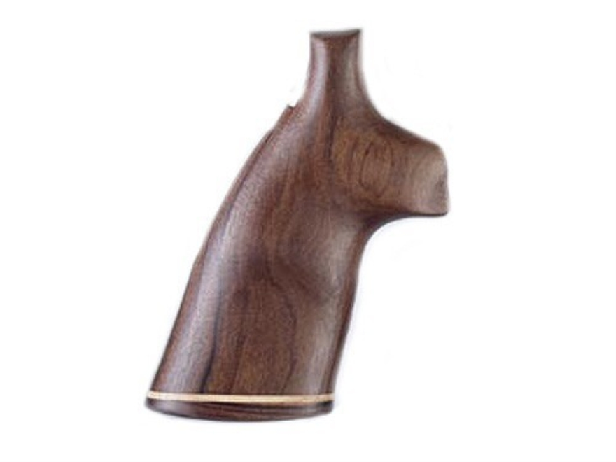 Hogue Fancy Hardwood Conversion Grips with Accent Stripe S&W N-Frame Round to Square Butt