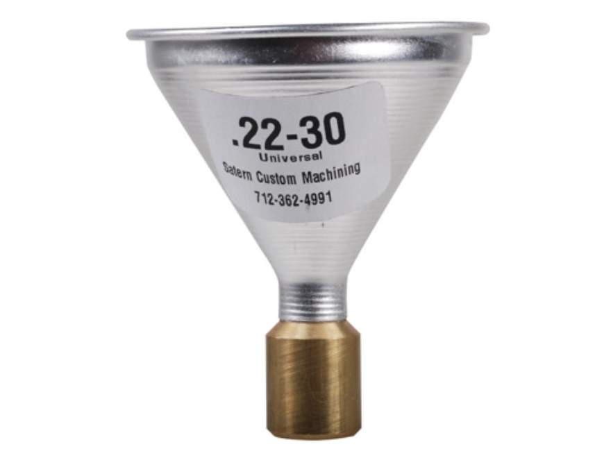 Satern Powder Funnel 22-30 Caliber Aluminum and Brass