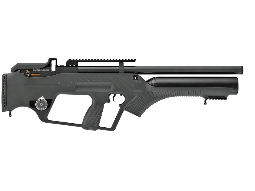 Hatsan BullMaster Semi-Auto PCP Air Rifle Pellet Black Polymer Stock Black Barrel