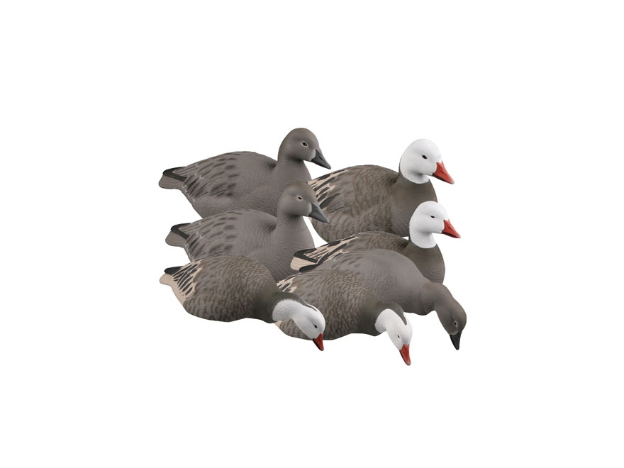 GHG Pro-Grade Harvester Pack Snow Goose Shell Goose Decoy Pack of 12
