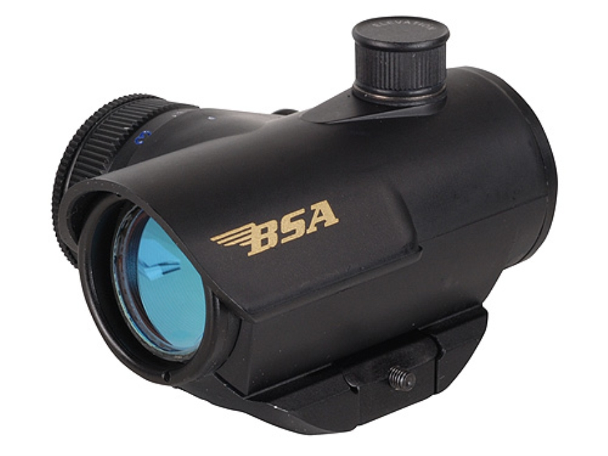 BSA Huntsman Red Dot Sight 1x 20mm 5 MOA Red, Green and Blue Dot Reticle with Integral ...