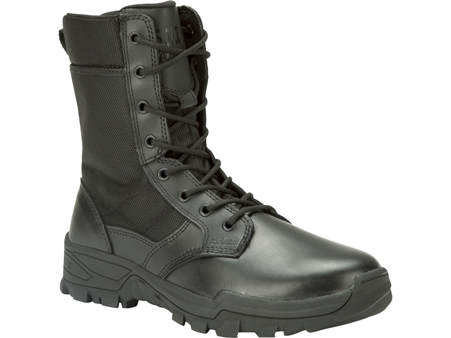 "5.11 Speed 3.0 Urban 8"" Side Zip Tactical Boots Leather and Nylon Black Men's"