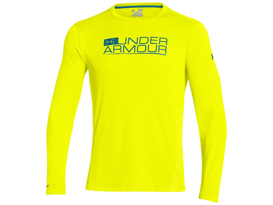 Under armour men 39 s iso chill element vented long upc for Yellow under armour long sleeve shirt