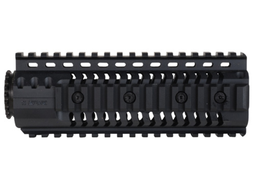 SI Defense 2-Piece Customizable Quad Rail Free Float Handguard LR-308 Carbine Length Matte