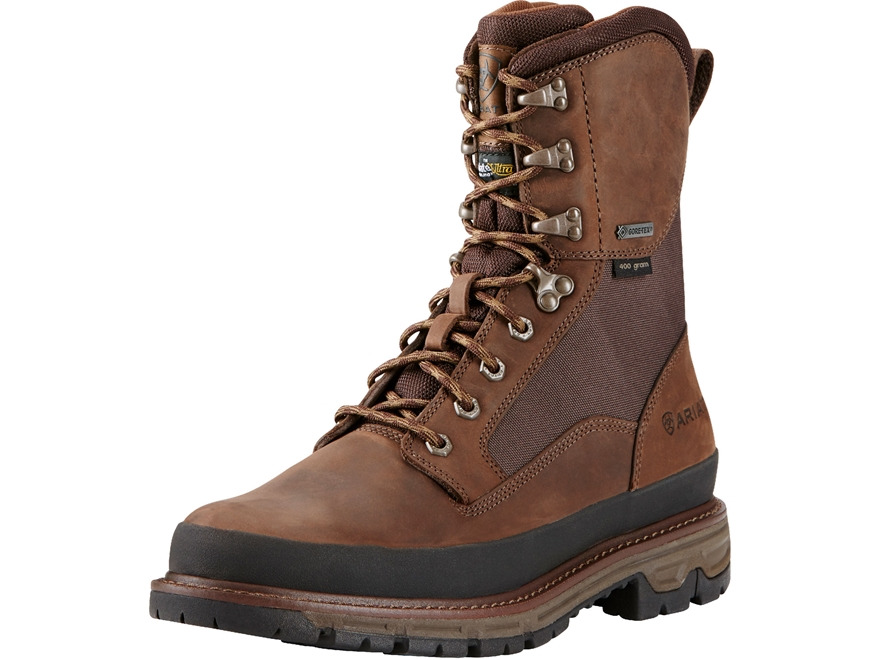 "Ariat Conquest GTX 8"" Waterproof GORE-TEX 400 Gram Insulated Hunting Boots Leather Men's"