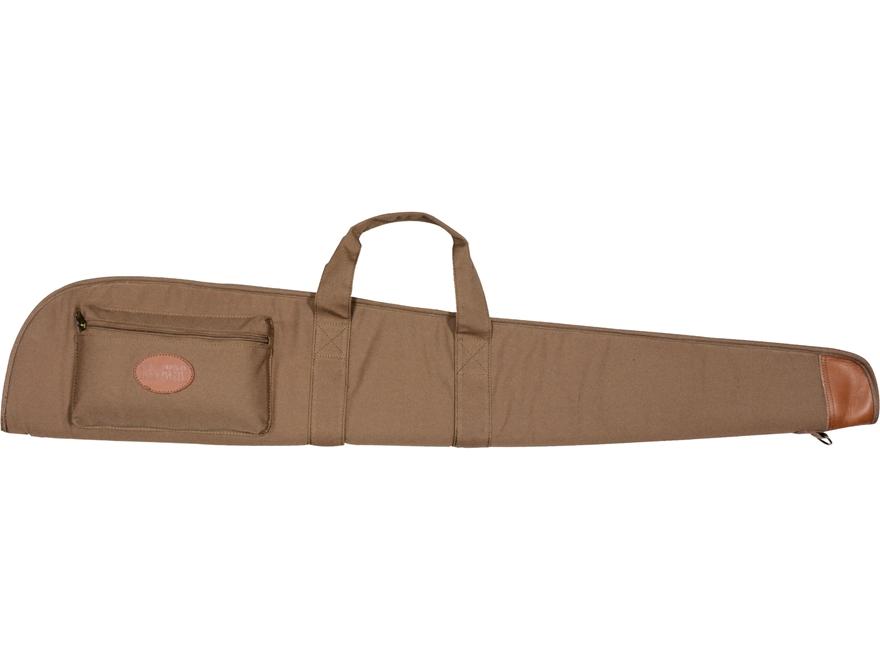 """MidwayUSA Deluxe Cotton Canvas Flannel Lined Shotgun Case 48"""" Dark Khaki"""