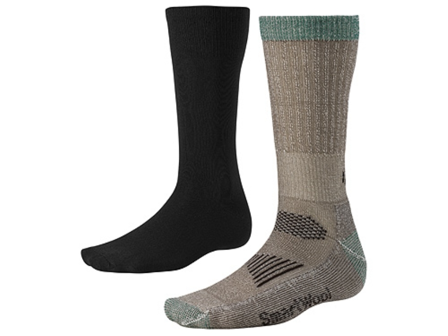 SmartWool Men's Ultimate Lightweight Hunting Socks System Wool Blend Black and Taupe Me...