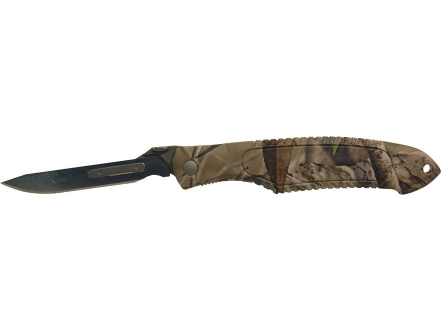 Havalon Piranta Predator Series Folding Skinning Knife ABS Handle Camo